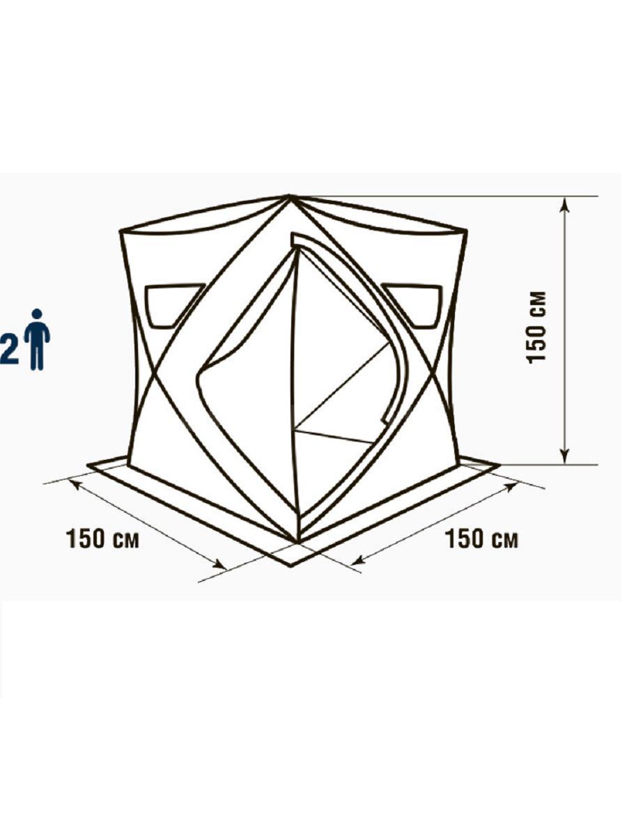 Палатка зимняя HIGASHI Comfort Solo 150 х 150 х 150 см.