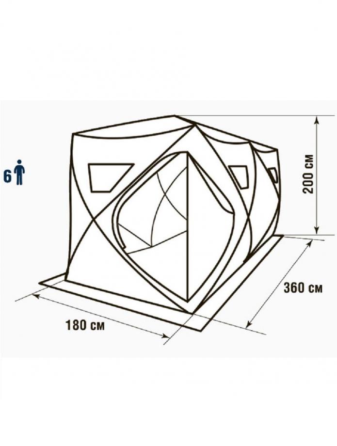 Палатка зимняя HIGASHI Double Comfort 360 х 180 х 205 см.