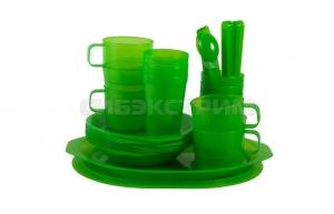 Пластиковый набор для пикника FORESTER на 6 персон в чехле C813