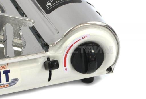 Плита газовая СЛЕДОПЫТ Deluxе с подогревом нержавеющая сталь 335х280х95 мм
