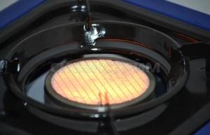 Плита газовая СЛЕДОПЫТ Ultrа керамическая с переходником
