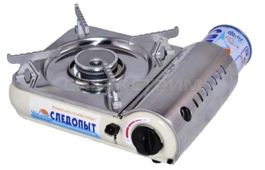 Плита газовая СЛЕДОПЫТ WeenY с подогревом нержавеющая сталь 245х200х92 мм