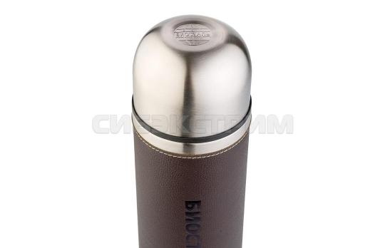 Термос Biostal Охота NYP-1000P 1л (узкое горло,кож.вст.,2 пробки)