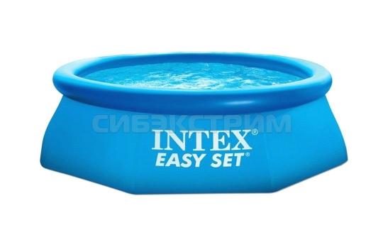 Надувной бассейн Intex Easy Set (насос с фильтром 220V) 244x76