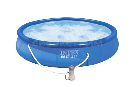 Надувной бассейн Intex Easy Set насос с фильтром 220V 457x91