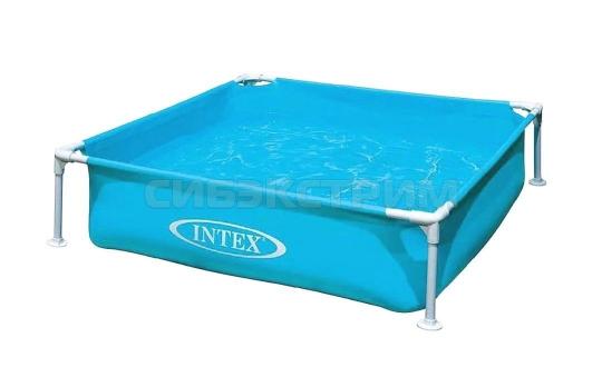 Каркасный бассейн Intex детский, синий 122x122x30