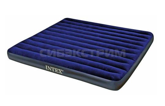 Надувной матрас Intex Стандарт King, флок 183x203x22