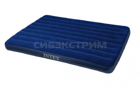 Надувной матрас Intex Стандарт Queen, флок 152x203x22