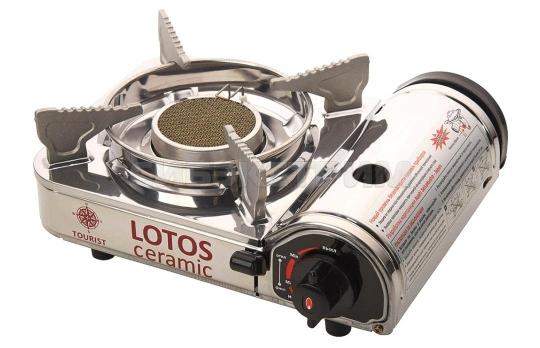 Плита газовая Tourist Lotos Ceramic TR-350 102х256х205 мм