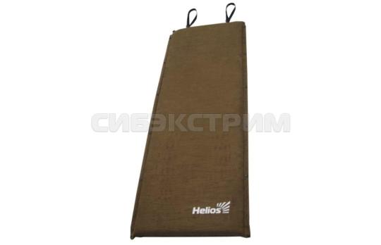 Коврик самонадувающийся Helios HS-007 коричневый 1880х660х70 мм