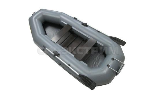 Лодка ПВХ Leader Компакт-300Р гребная, серый