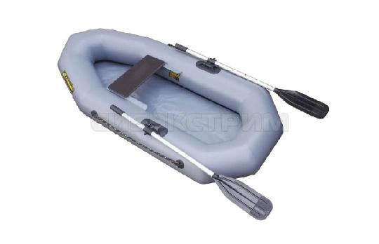 Лодка ПВХ Компакт-200 гребная, серый