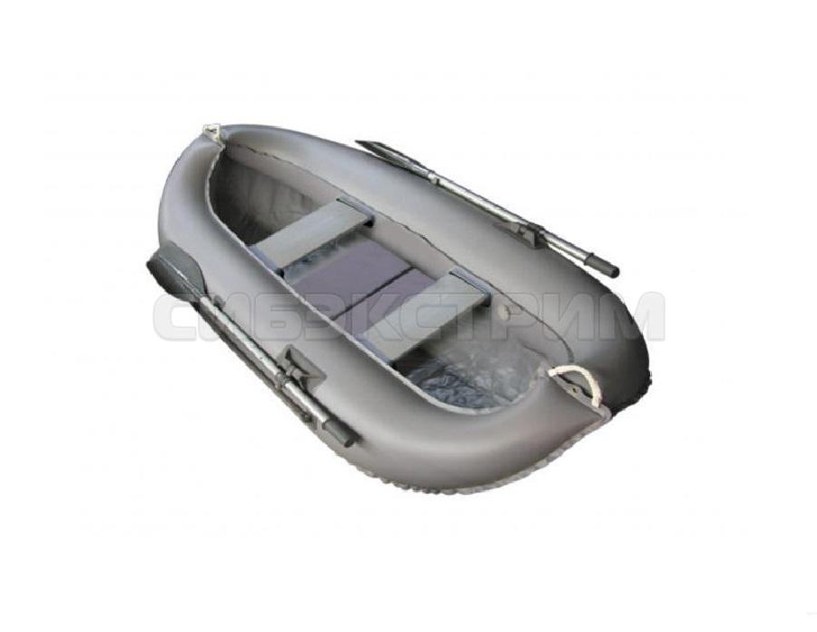 Лодка ПВХ Leader Компакт-260 гребная, серый