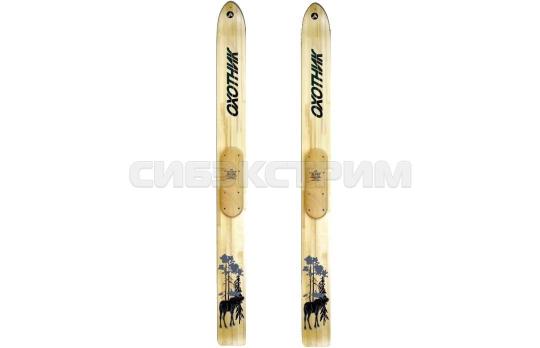 Лыжи Охотник деревянные 165х15 см